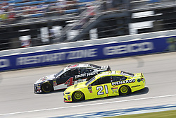 July 1, 2018 - Joliet, Illinois, United States of America - Paul Menard (21) battles for position during the Overton's 400 at Chicagoland Speedway in Joliet, Illinois  (Credit Image: © Justin R. Noe Asp Inc/ASP via ZUMA Wire)