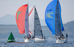 Largs Regatta Festival 2019<br /> <br /> Close racing for the Moody 336's with Salamander, Shearwater and Ubiquity