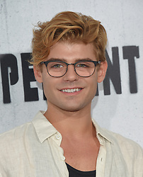 August 28, 2018 - Hollywood, California, U.S. - Garrett Clayton arrives for the premiere of the film 'Peppermint' at the Regal Cinemas LA Live theater. (Credit Image: © Lisa O'Connor/ZUMA Wire)