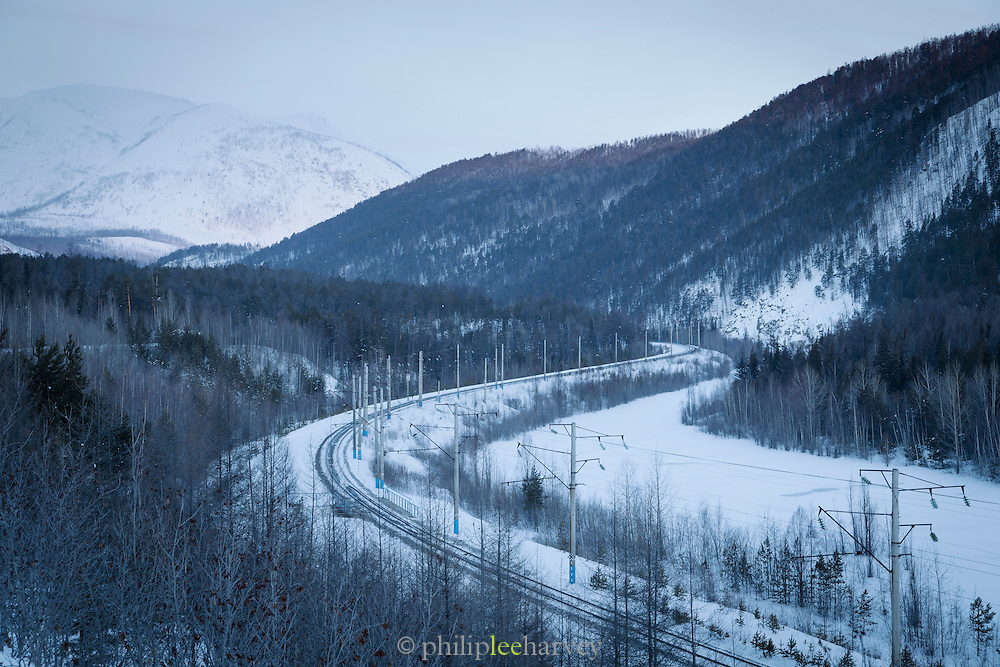 BAM railway line towards Severobaikal. Siberia, Russia