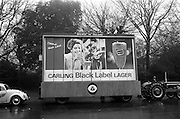 17/03/1965<br /> 03/17/1965<br /> 17 March 1965<br /> NAIDA St. Patrick's Day Parade, Dublin. Carling Black Label lager float in the parade.