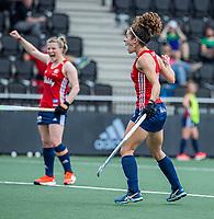 AMSTELVEEN - Anna Toman (Eng) heeft gescoord  tijdens de wedstrijd dames , Ierland-Engeland (1-5) bij het  EK hockey , Eurohockey 2021.COPYRIGHT KOEN SUYK