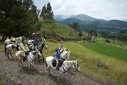 South America, Ecuador, Zuleta, horseback riding excursion from hacienda, MR