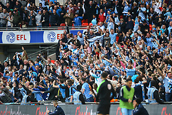 Goal, George Thomas of Coventry City scores, Coventry City fans celebrate, Coventry City 2-0 Oxford United - Photo mandatory by-line: Jason Brown/JMP -  02/04//2017 - SPORT - Football - London - Wembley Stadium - Coventry City v Oxford United - Checkatrade Trophy Final