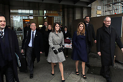 Princess Beatrice and Princess Eugenie during visit in Hanover, Germany, January 18, 2013. Photo by Imago / i-Images...UK ONLY