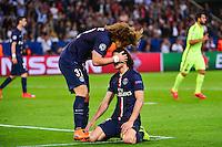 Deception Edinson CAVANI / David LUIZ - 15.04.2015 - Paris Saint Germain / Barcelone - 1/4Finale Aller Champions League<br />Photo : Dave Winter / Icon Sport