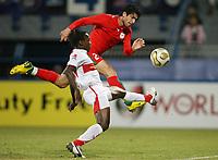 Fotball<br /> Bundesliga <br /> 10.01.2007<br /> Foto: Witters/Digitalsport<br /> NORWAY ONLY<br /> <br /> v.l. Arthur Boka, Hossein Badamaki Iran <br /> Fussball Dubai Challenge 2007 Iran - VfB Stuttgart