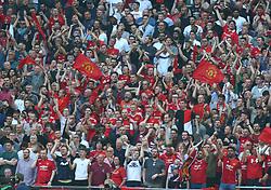 April 21, 2018 - London, England, United Kingdom - Manchester United  Fans.during the FA Cup semi-final  match between Tottenham Hotspur and Manchester United at Wembley, London, England on 21 April 2018. (Credit Image: © Kieran Galvin/NurPhoto via ZUMA Press)
