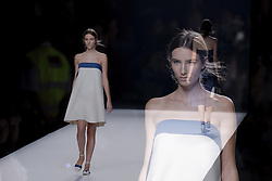September 16, 2016 - Madrid, Spain - Models showcase designs by Devota & Lomba on the runway at the Ailanto show during Mercedes-Benz Fashion Week Madrid Spring/Summer 2017 at Ifema on September 16, 2016 in Madrid, Spain. (Credit Image: © Oscar Gonzalez/NurPhoto via ZUMA Press)