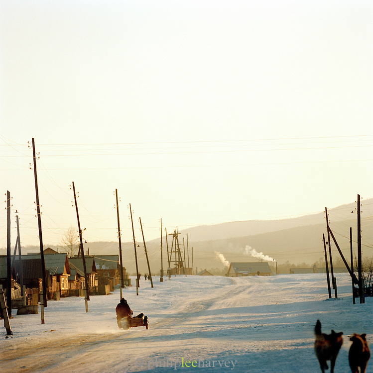 Street scene in Olkhon Island, Lake Baikal, Siberia, Russia