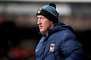 Coventry goalkeeping coach Steve Ogrizovich during the EFL Sky Bet League 1 match between Peterborough United and Coventry City at London Road, Peterborough, England on 16 March 2019.