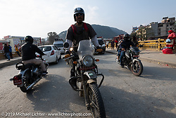 Jason Adamski riding a Royal Enfield Himalayan in Motorcycle Sherpa's Ride to the Heavens motorcycle adventure in the Himalayas of Nepal. Riding from Daman back to Kathmandu. Wednesday, November 13, 2019. Photography ©2019 Michael Lichter.