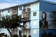 Che on an apartment building in Ciego de Avila, Cuba.