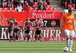 03.04.2010, EasyCredit Stadion, GER, Nuernberg, 1. FBL 09 10, 1. FC Nuernberg vs 1. FSV Mainz 05, im Bild Torjubel nach dem 1:0  Foto © nph / Becher / SPORTIDA PHOTO AGENCY