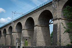 Railroad bridge near the neighbourhood of Grund in Luxembourg.