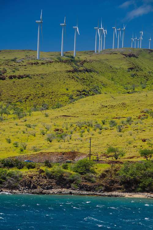 Wind Turbines, Maui, Hawaii, US