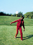 Toots Hibbert with football in the UK 1981