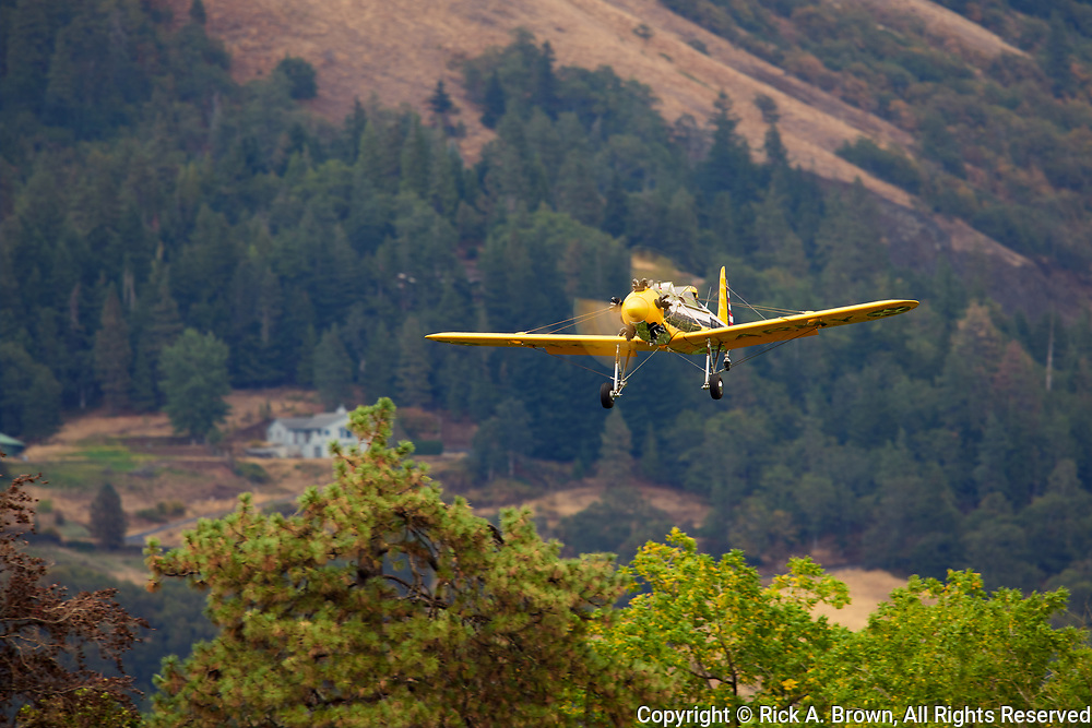 Ryan Pt-22 arriving at Ken Jernstedt Airfield