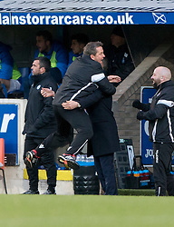 Billy Woods with Ross County's manager Jim McIntrye after the second goal. St Johnstone 2 v 4 Ross County. SPFL Ladbrokes Premiership game played 19/11/2016 at St Johnstone's home ground, McDiarmid Park.