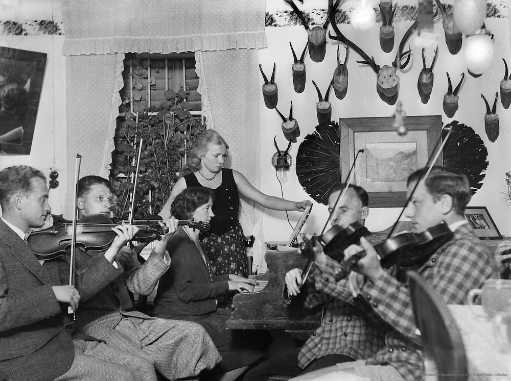 House Orchestra, Piesslinger, Gstadt-Molln, Austria, circa 1933