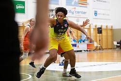 Rangie Bessard of ZKK Cinkarna Celje in action during basketball match between ZKK Cinkarna Celje (SLO) and MBK Ruzomberok (SVK) in Round #6 of Women EuroCup 2018/19, on December 13, 2018 in Gimnazija Celje Center, Celje, Slovenia. Photo by Urban Urbanc / Sportida