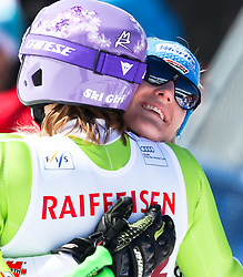 20.03.2011, Pista Silvano Beltrametti, Lenzerheide, SUI, FIS Ski Worldcup, Finale, Lenzerheide, NATIONEN TEAM EVENT, im Bild Maria Riesch (GER) und Susanne Riesch (GER) umarmen // during Nations Team Event, at Pista Silvano Beltrametti, in Lenzerheide, Switzerland, 20/03/2011, EXPA Pictures © 2011, PhotoCredit: EXPA/ J. Feichter