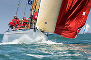 David Murrin's Cetewayo competing in Cowes during the Panerai British Classic Sailing Week regatta.<br /> Picture date: Monday July 10, 2017.<br /> Photograph by Christopher Ison ©<br /> 07544044177<br /> chris@christopherison.com<br /> www.christopherison.com