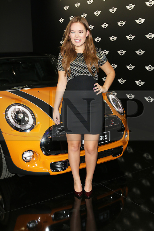 Tanya Burr, The World Premiere of the New MINI, Old Sorting Office, London UK, 18 November 2013, Photo by Richard Goldschmidt © Licensed to London News Pictures. Photo credit : Richard Goldschmidt/Piqtured/LNP