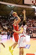 DESCRIZIONE : Pistoia Lega serie A 2013/14  Giorgio Tesi Group Pistoia Pesaro<br /> GIOCATORE : Amici Alessandro<br /> CATEGORIA : tiro<br /> SQUADRA : Pesaro Basket<br /> EVENTO : Campionato Lega Serie A 2013-2014<br /> GARA : Giorgio Tesi Group Pistoia Pesaro Basket<br /> DATA : 24/11/2013<br /> SPORT : Pallacanestro<br /> AUTORE : Agenzia Ciamillo-Castoria/M.Greco<br /> Galleria : Lega Seria A 2013-2014<br /> Fotonotizia : Pistoia  Lega serie A 2013/14 Giorgio  Tesi Group Pistoia Pesaro Basket<br /> Predefinita :