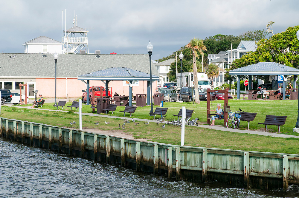 Waterfront Park in Southport, North Carolina on Saturday, August 7, 2021. Copyright 2021 Jason Barnette