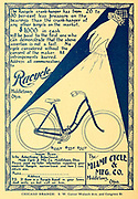 Ad for Racycle Bicycles Manufactured by the Miami Cycling and MFG and Co. from Middletown Ohio. Appeared in a monthly magazine called 'Birds : illustrated by color photography' a monthly serial. Knowledge of Bird-life in 1897.