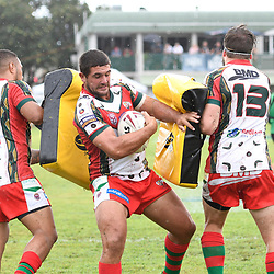 BRISBANE, AUSTRALIA - MARCH 19: Wynnum Manly players warm up before the Round 3 QRL Intrust Super Cup match between Wynnum Manly and Tweed Heads Seagulls at Ron Stark Oval on March 18, 2017 in Brisbane, Australia. (Photo by Patrick Kearney/Wynnum Manly Seagulls)
