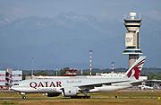 A7-BFK Qatar Airways Cargo Boeing 777-FDZ at Malpensa (MXP / LIMC), Milan, Italy