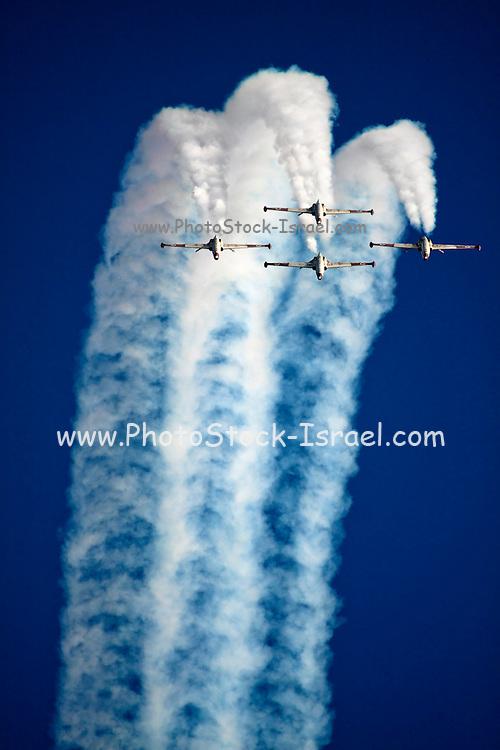 Israeli Air force (IAF) Fouga Magister CM-170 in aerobatics display