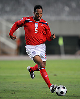 Joleon Lescott<br /> England 2008/09 <br /> Andorra V England (0-2) World Cup 2010 Qualifying Match <br /> at Monjiic Olympic Stadium in Barcelona 06/09/08<br /> Photo Robin Parker Fotosports International