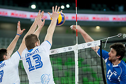 Tine Urnaut #13 of Slovenia during qualifications match for FIVB Men's World Championship 2014 between National team Slovenia and Israel in pool B on May 24, 2013 in SRC Stozice, Ljubljana, Slovenia. (Photo By Urban Urbanc / Sportida)