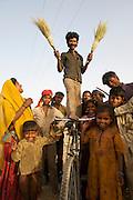 Caste of broom makers - Rajasthan, India