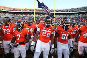 Oct 23, 2010; Charlottesville, VA, USA;  Virginia Cavaliers at the start of the game against the Eastern Michigan Eagles at Scott Stadium.  Virginia won 48-21. Mandatory Credit: Andrew Shurtleff