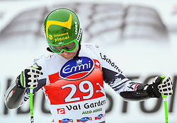 20.12.2013, Saslong, Groeden, ITA, FIS Ski Weltcup, Groeden, Herren, SuperG, im Bild Klaus Kroell (AUT) // Klaus Kroell of Austria reacts at the finish area during mens Super-G of the Groeden FIS Ski Alpine World Cup at the Saslong Course in Gardena, Italy on 2012/12/20. EXPA Pictures © 2013, PhotoCredit: EXPA/ Johann Groder