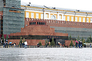 Moskou is de hoofdstad en met afstand de grootste stad van Rusland, voorheen van de Sovjet-Unie./// Moscow is the capital and by far the largest city of Russia, formerly the Soviet Union.<br /> <br /> Op de foto / On the photo: Mausoleum van Lenin / Lenin's Mausoleum