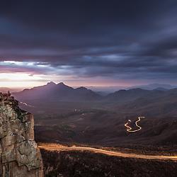 Na Serra da Leba ao cair da noite. Angola