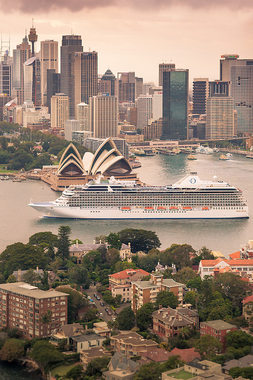 The Oceania Marina in Sydney Harbour, March 2013