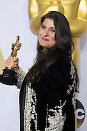 """88th Academy Awards press room.<br /> Best Documentary short winner Sharpen Obaid-Chinoy for the film """"A Girl in the River: The Price of Forgiveness."""""""