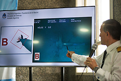 November 17, 2018 - Buenos Aires, Argentina - Argentine Naval officer during a press conference. 366 days after the disappearance of the submarine Ara San Juan, the Argentine Navy announced Saturday that Ocean Infinity found the submarine remains 900 meters under the sea.   (Credit Image: © Mario De Fina/NurPhoto via ZUMA Press)