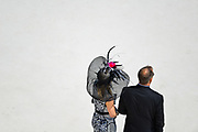 30174108A LOUISVILLE, KY. - MAY 1, 2015: People look on from the grand stands during the 141st running of the Kentucky Oaks at Churchill Downs.<br /> <br /> William DeShazer for The New York Times
