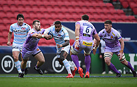 Rugby Union - 2019 / 2020 Heineken Cup - Final - Exeter Chiefs vs Racing 92 - Ashton Gate, Bristol<br /> <br /> Racing 92's Virimi Vakatawa is tackled by Exeter Chiefs' Luke Cowan-Dickie.<br /> <br /> COLORSPORT/ASHLEY WESTERN