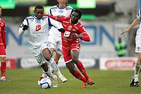 21.04.2012<br /> Tippeligaen 2012<br /> FK Haugesund v Brann.<br /> Haugesund Stadion.<br /> Foto. Simon Rogers, Digital Sport.<br /> <br /> Haugesund. Umaru Bangura<br /> Brann. Chukwuma Bentley Akabueze.