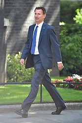 Health Secretary Jeremy Hunt arrives at 10 Downing Street in London for a Cabinet meeting.