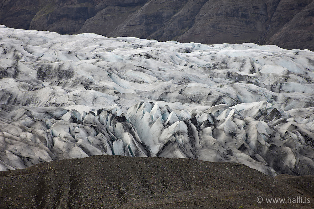 The glacier, Heinabergsjokull, east coast of Iceland - Heinabergsjökull, skammt frá Höfn í Hornafirði