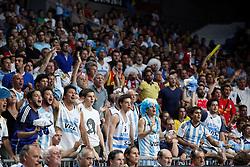 07.09.2014, Palacio de los deportes, Madrid, ESP, FIBA WM, Brasilien vs Argentinien, Achtelfinale, im Bild Argentina´s supporters // during FIBA Basketball World Cup Spain 2014 match between X and X at the Palacio de los deportes in Madrid, Spain on 2014/09/07. EXPA Pictures © 2014, PhotoCredit: EXPA/ Alterphotos/ Victor Blanco<br /> <br /> *****ATTENTION - OUT of ESP, SUI*****